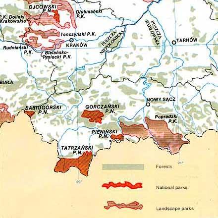 Southern Poland Map.Malopolska Little Poland